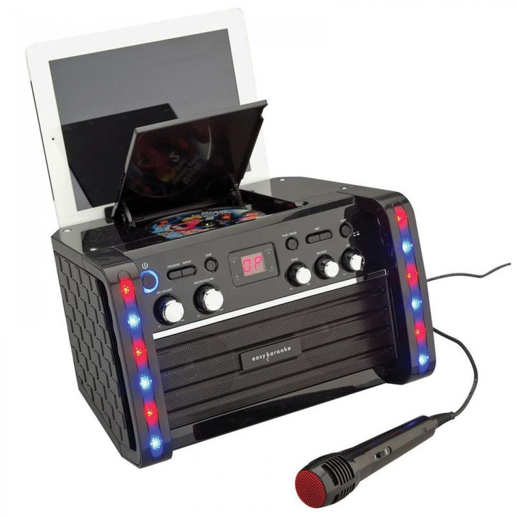 Easy Karaoke Bluetooth System With LED Light Effects    Disc Set