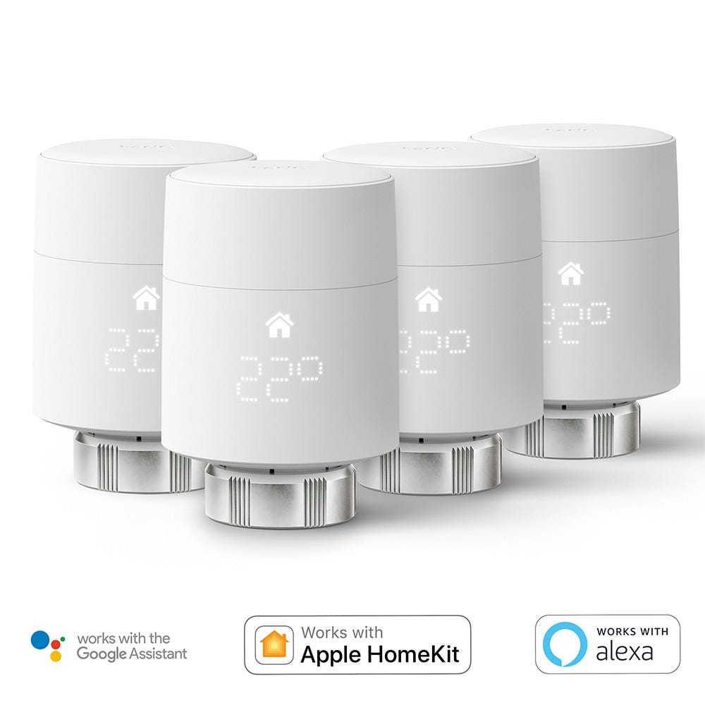 tado° Add-On Smart Radiator Thermostat (Quattro Pack) (Vertical Mounting)