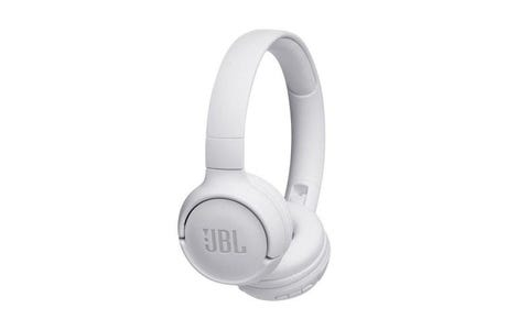 JBL T500BT On-Ear Wireless Headphones - White
