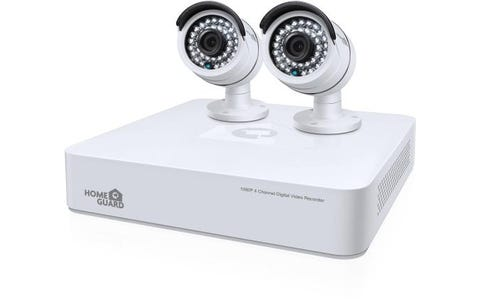 HomeGuard (1TB) 1080p Mini 4 Channel Hybrid DVR with 2 x 1080p CCTV Camera Kit