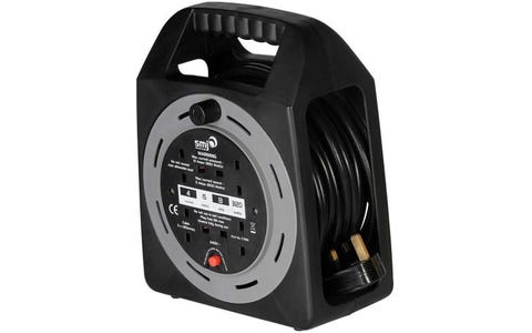 SMJ Electrical 4x 13A Socket Easy Wind Compact Extension Cable Reel (15m)