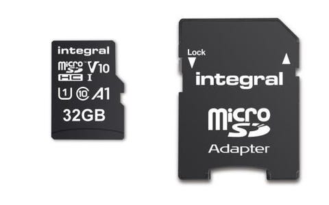 Integral 32GB High Speed V10 UHS-I U1 MicroSDHC Memory Card