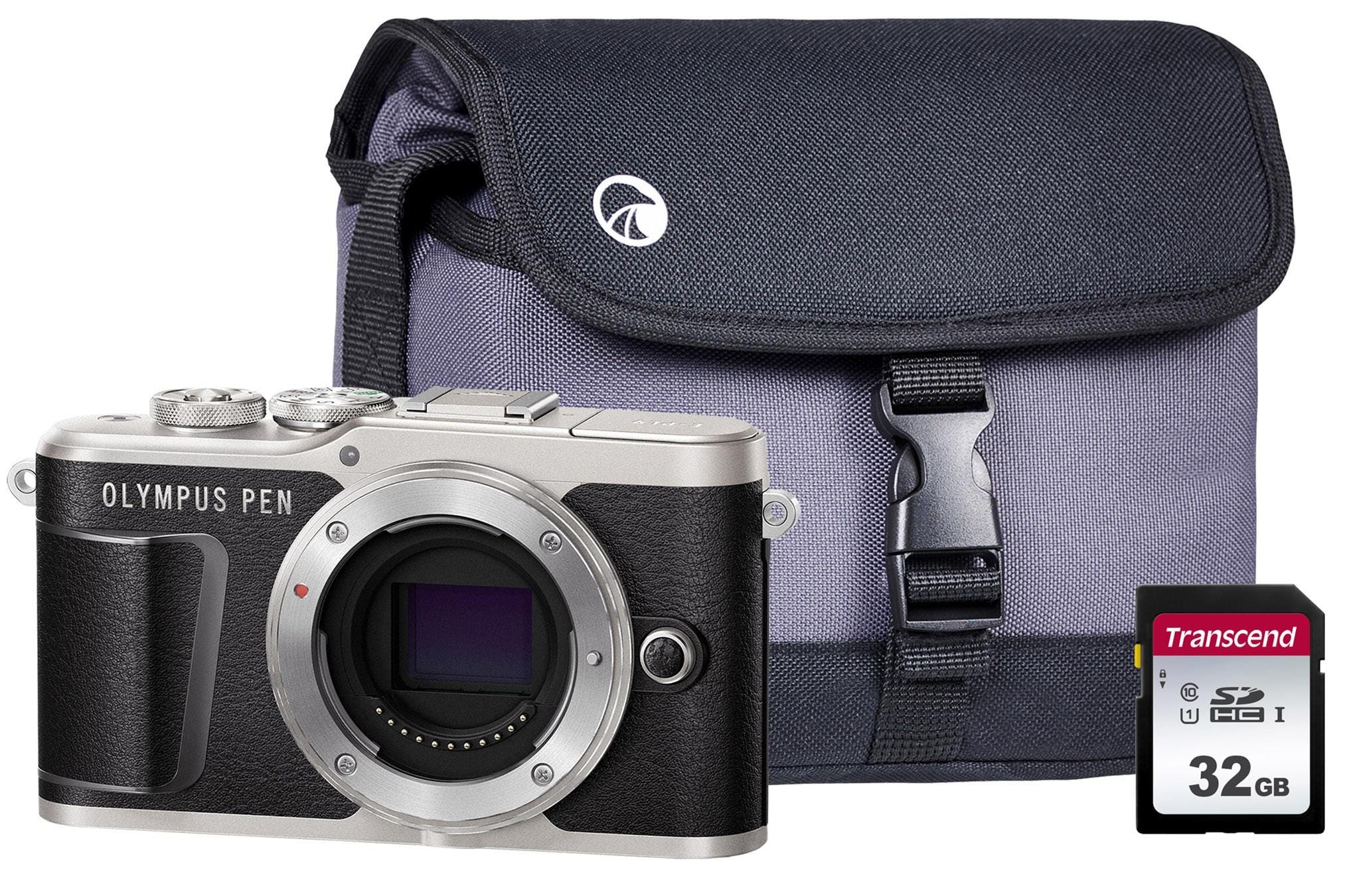 Olympus PEN E-PL9 Compact System Camera Body including Case & 32GB SD Card - Black