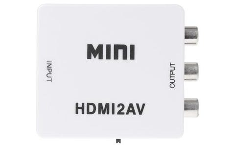 Nikkai HDMI to RCA composite converter with Mini USB Cable Up Scales to 1080p