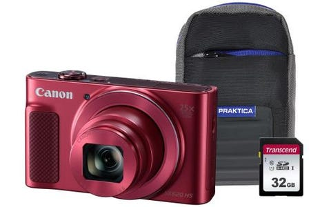 Canon PowerShot SX620 HS Camera Kit in 32GB SDHC Class 10 Card & Case - Red