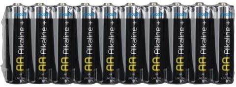 Maplin Extra Long Life High Performance Alkaline AA 1.5V Batteries Pack of 10
