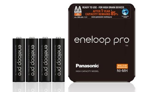 Panasonic Eneloop Pro Ni-MH AA 2500mAh 1.2V Rechargeable Batteries (Pack of 4)