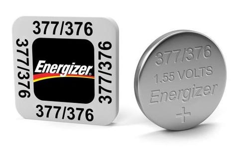 Energizer SR66/S53 377/376 Silver Oxide Coin Button Cell Battery