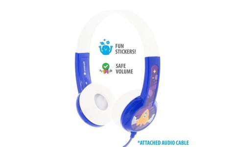 BuddyPhones Discover Wired Headphones - Blue