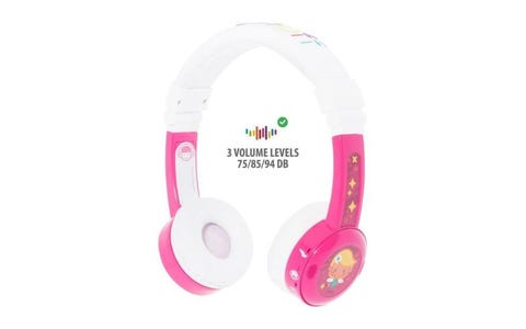 BuddyPhones InFlight Wired Headphones - Pink