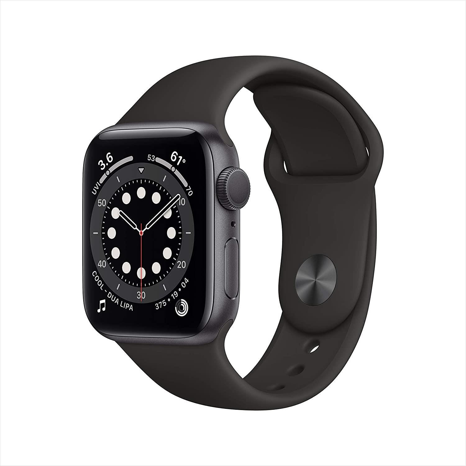 Apple GPS 40mm Watch Series 6 - Regular - Space Gray Aluminium Case with Black Sport Band