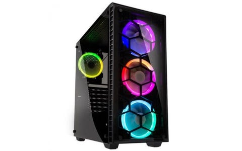 Kolink Observatory Midi Tower RGB Tempered Glass Window Gaming Case - Black