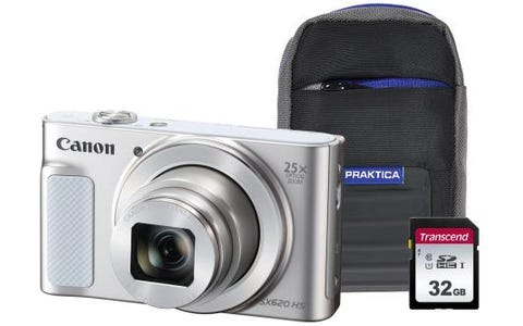 Canon PowerShot SX620 HS Camera Kit inc 32GB SDHC Class 10 Card & Case - White