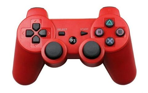 Pi Supply Bluetooth Game Controller For Playstation and Raspberry Pi - Red