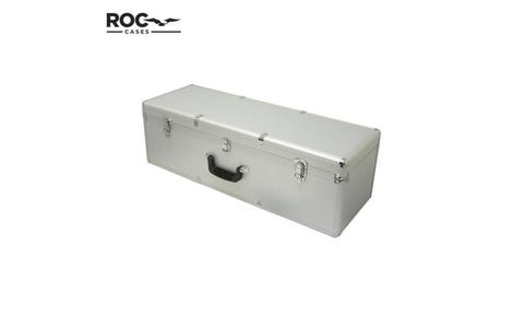 ROC Cases Aluminium Flight Case with Foam Block - Silver