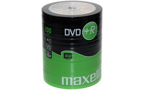 Maxell DVD+R Shrink Wrap (100 Pack)