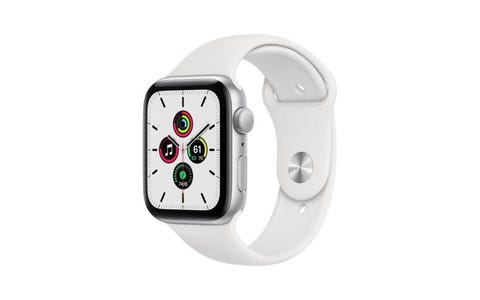 Apple GPS 44mm Watch SE - Regular - Silver Aluminium Case with White Sport Band