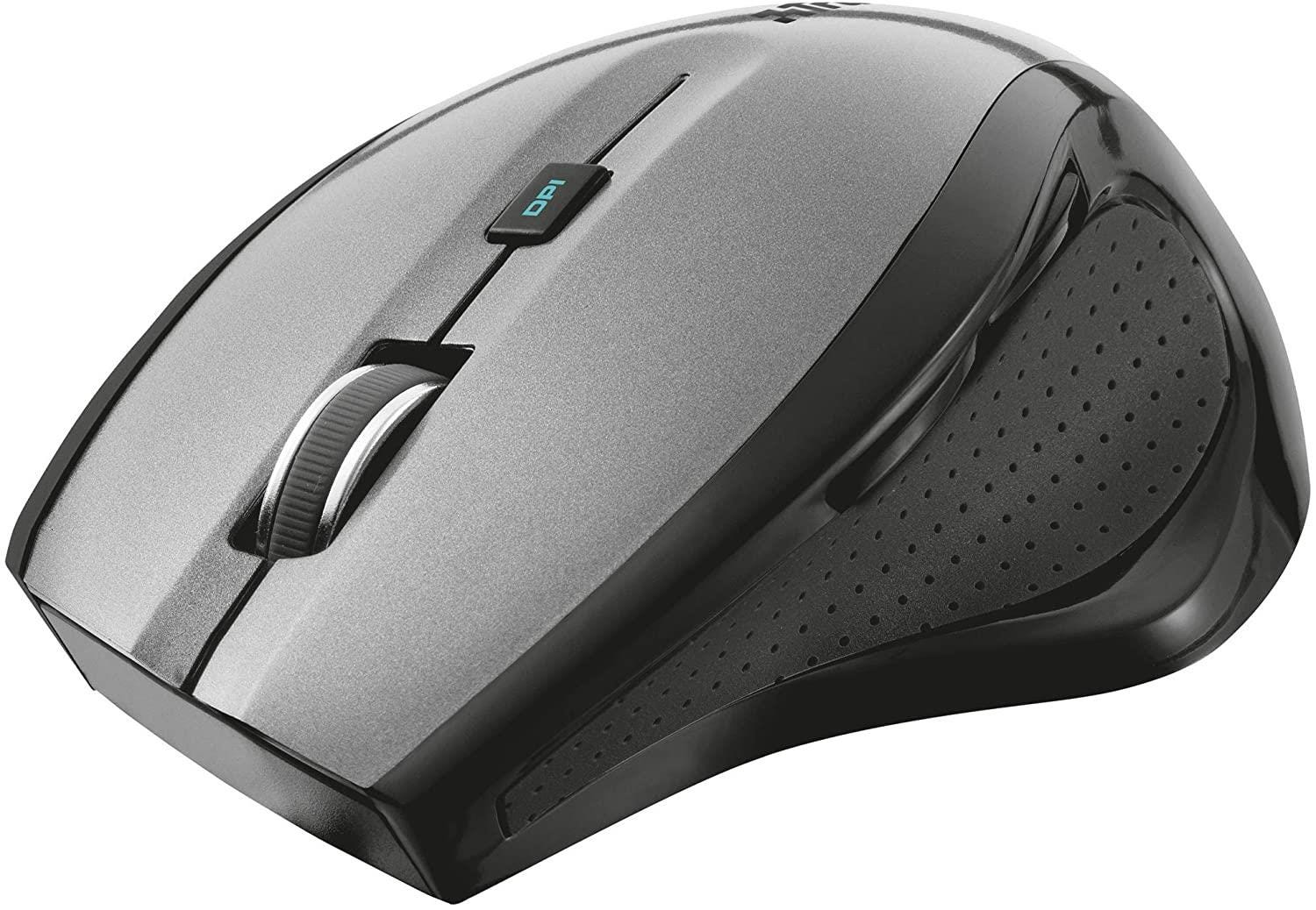 Trust Maxtrack 6 Button Wireless Optical Mouse - Grey