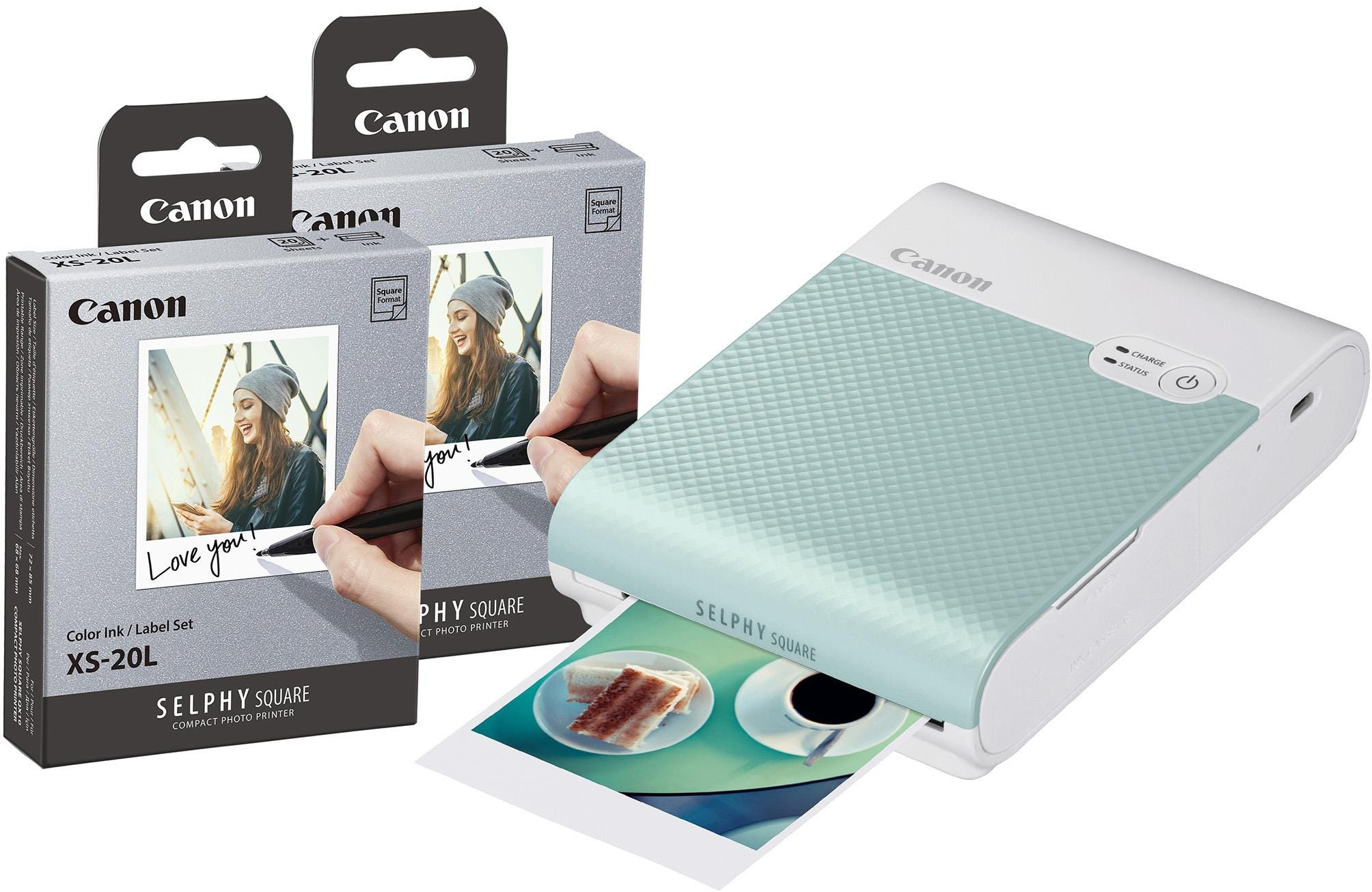 Canon Selphy Square QX10 Instant Photo Printer including 40 Shots - Green