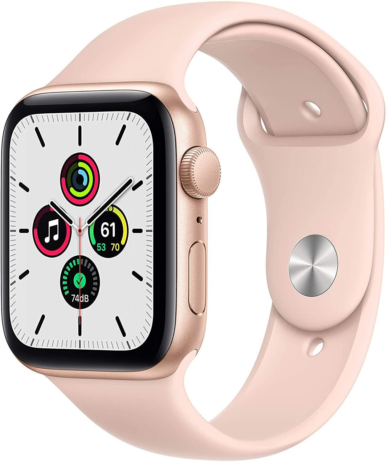 Apple GPS 44mm Watch SE - Regular - Gold Aluminium Case with Pink Sand Sport Band