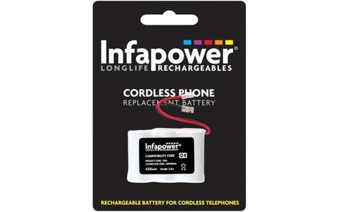InfaPower Cordless Telephone Rechargeable Ni-MH 1/2 AA Batteries - Pack of 3