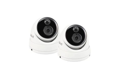 Swann Thermal Sensing PIR 5MP Super HD Domes with IR Night Vision Security Cameras (2 Pack)