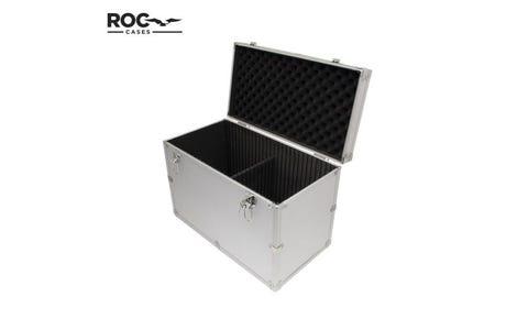 ROC Cases Aluminium Flight Case with Internal Divider Included - Silver