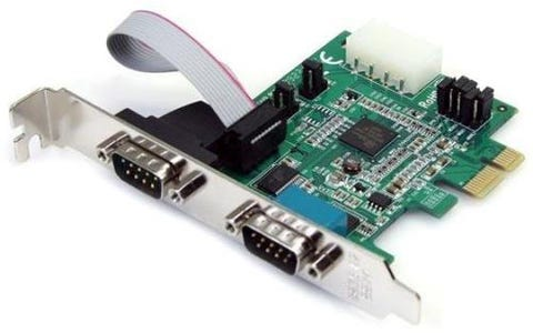 Startech 2 Port Native PCI Express RS232 Serial Adapter Card with 16950 UART