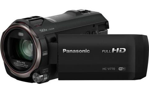 Panasonic HC-V770 FHD 12.76MP 20xZoom 3.0LCD WiFi  Camcorder - Black