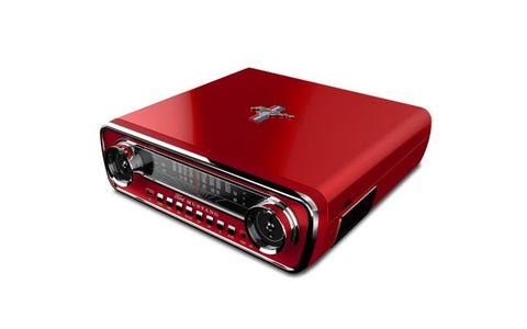 ION Mustang LP 4-in-1 Music Centre Belt Drive Turntable - Red