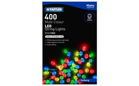 Status Varberg 400 Coloured LED String Lights