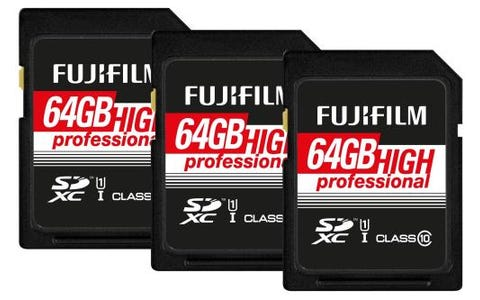 Fujifilm SDXC 64GB UHS-I Class10 Pro Memory Card 95 MB/s Read (Pack of 3)