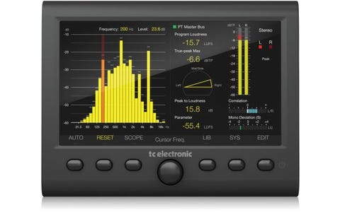 """TC Helicon Clarity M Stereo Audio Meter with 7"""" High-Resolution Display and USB Connection"""