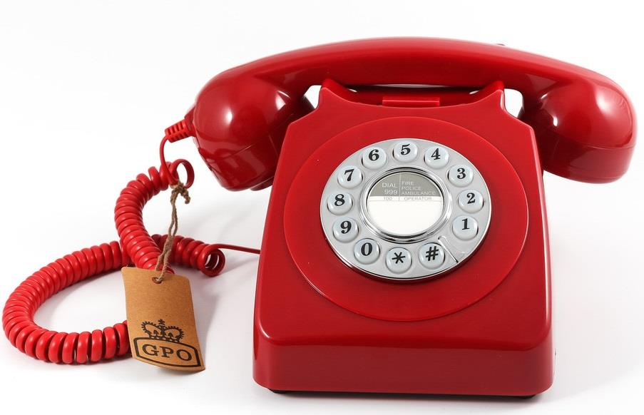 Image of GPO 746 Retro Rotary Dial Telephone - Red