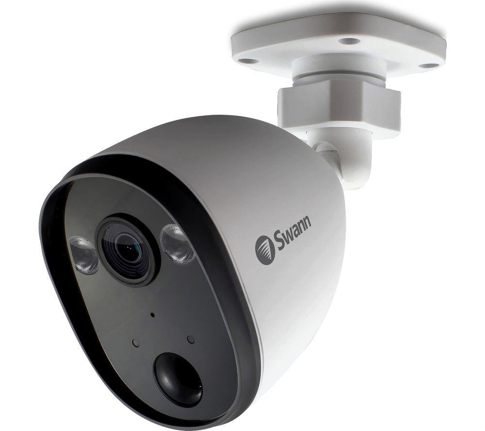 Swann SWIFI-SPOTCAM Outdoor Wireless Full HD Night-Vision Security Camera - White