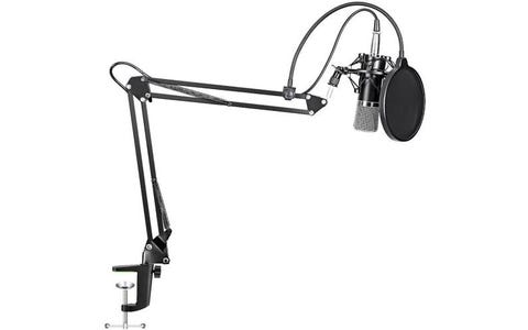 Maono Studio XLR Microphone Kit with Spring Loaded Boom Arm & Pop Filter