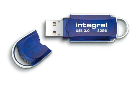 Integral 32GB Courier AES USB 3.0 Memory Flash Drive