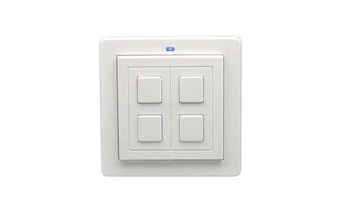 Lightwave Connect Series Wire-Free Switch (2 Gang) - White Metal