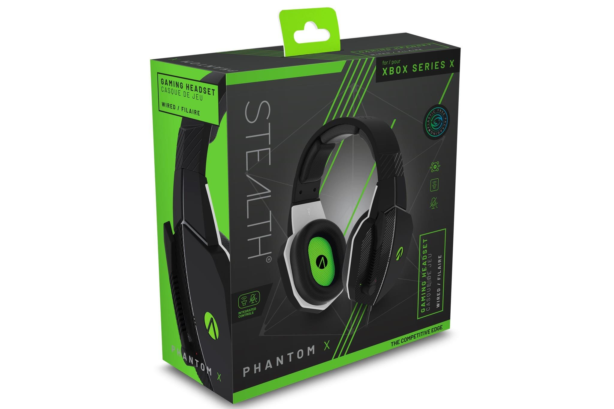 Stealth Phantom X Premium Stereo Gaming Headset - Black and Green