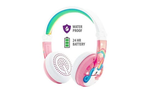 BuddyPhones Wave Wireless Headphones - Unicorn Pink