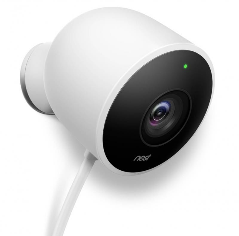 Google Nest Cam Outdoor Wireless Full HD Night-Vision Security Camera - White
