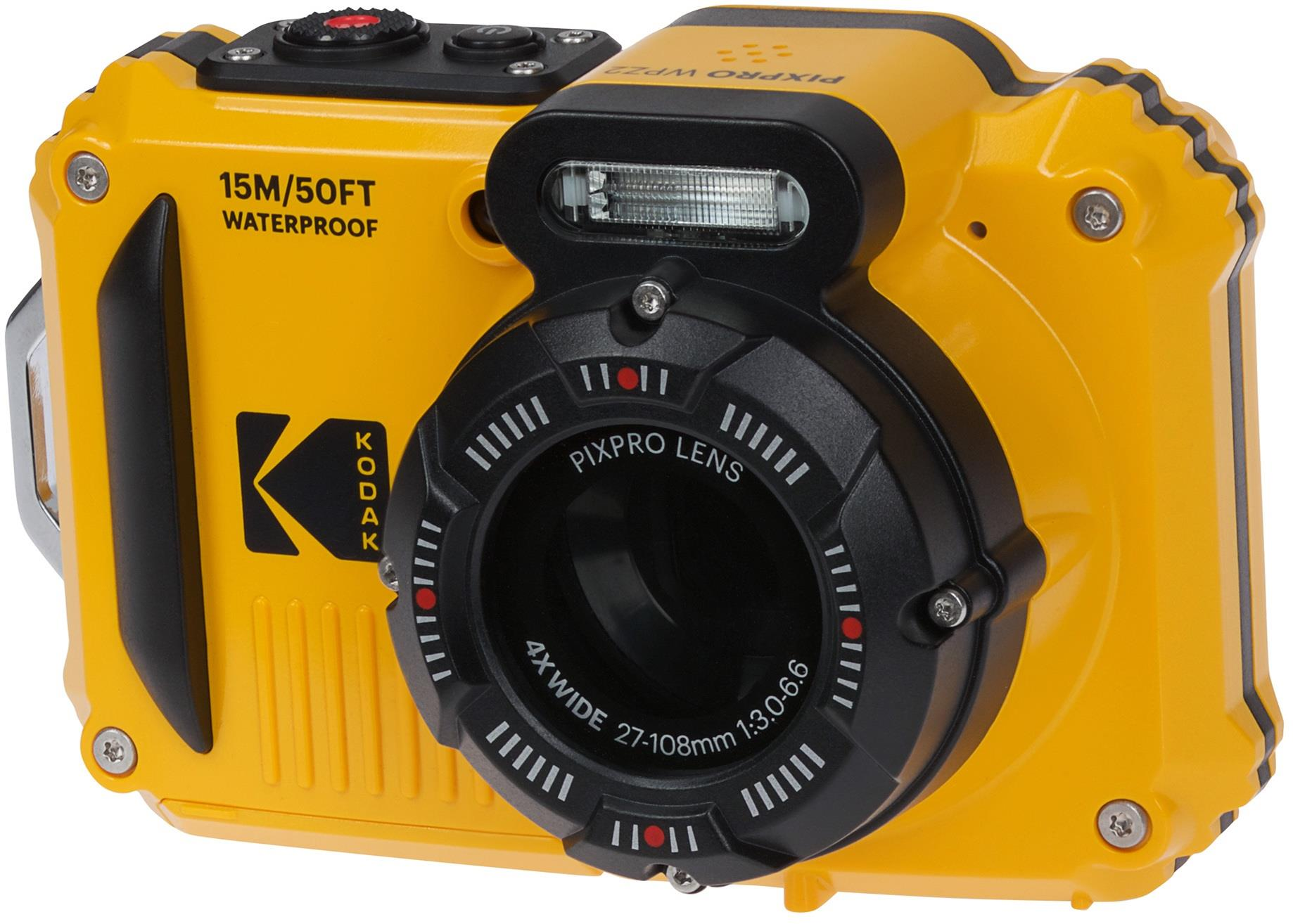 Kodak PIXPRO WPZ2 16MP 4x Zoom Tough Compact Camera - Yellow