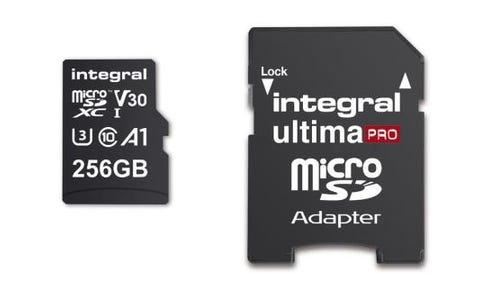 Integral 256GB High Speed V30 UHS-I U3 MicroSDHC Memory Card