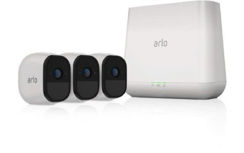 Arlo Pro Security System with inbuilt Alarm siren  3 Wire-Free HD Cameras