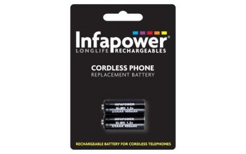 InfaPower Rechargeable Ni-Mh Battery for Cordless Telephones - 2x 2/3 AAA