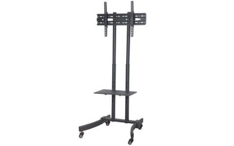 "ProperAV Portable TV Trolley Stand for Screens - 32""-65"" - Black"