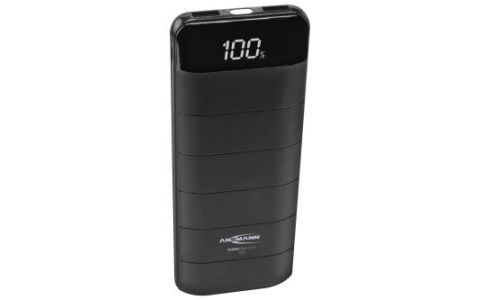 Ansmann Powerbank 12.8 12000mAh LCD Display LED Light - Black
