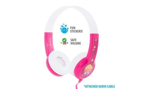 BuddyPhones Discover Wired Headphones - Pink