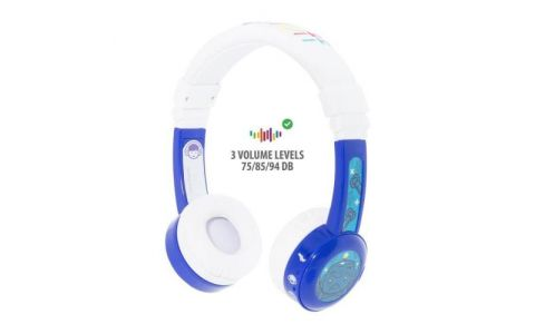 BuddyPhones InFlight Wired Headphones - Blue