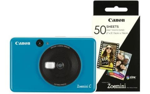 Canon Zoemini C 2-in-1 Instant Camera Printer Seaside Blue inc 60 Prints